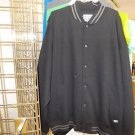 Black Black Cotton Long Sleeve Varsity Jacket PRO CLUB Varsity Jacket Coat S-7X