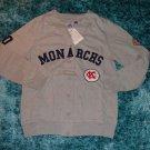 Womens gray long sleeve Negro league sweater S-3X Kansas City Monarchs sweater