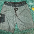 ANALOG Black White swim trunks 20' outseam walking swim trunks surf shorts 28W