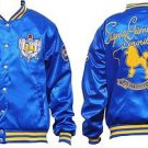 SIGMA GAMMA RHO Blue Gold Satin Jacket Sigma Gamma Rho Sorority Jacket S-4X