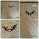 Mens Short sleeve biker wings T-Shirt  Angle Wings long biker T shirt SMALL
