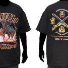 Buffalo soilder T shirt US ARMY Buffalo Soilder Black short sleeve T shirt L-4XL
