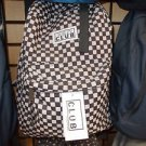 Black White checker back pack by PRO CLUB black back pack travel hiking bag #2