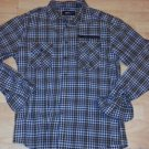Brown plaid long sleeve button down shirt casual long sleeve button up top XL