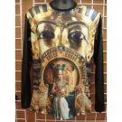Sublimation Spinx Head image Long sleeve T-SHIRT Egyptian King Tut T shirt M-2