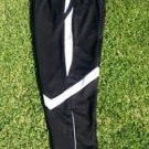 Black White soccer pants Gym track running jogging Pants bottoms Soccer pants M