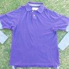 Purple Gray Long sleeve Thermal polo shirt Long Sleeve Thermal Polo Shirt  XL-2X