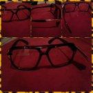 Mens Womens Unisex  80's Gazelle style glasses Brown square LENS SUN GLASSES