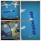 11pc ARGENTINA Futbol Soccer Team Car Seat Steering Wheel Cover Set 11pc