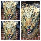 Cheetah Head Sublimation short sleeve T-SHIRT leopard print short sleeve M-2X