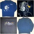 Mens Blue Long Sleeve Sweater Hip Hop Sweater Acrylic Long Sleeve Sweater BIG XL