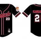 Kansas City Monarchs Negro League Jersey Black Red Kansas City Monarchs Jersey