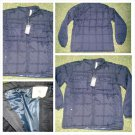 Mens Navy Blue Bubble Jacket Black Long Sleeve Puffer Jacket Winter Jacket S-3X