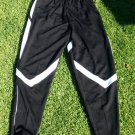 Black White soccer pants Gym track running jogging Pants bottoms Soccer pants L