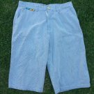 Black White Pin Stripe Walking shorts Men Military style casual shorts 36W