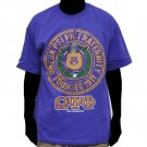 OMEGA PSI PHI PURPLE SHORT SLEEVE T-SHIRT Vintage style Fraternity T shirt M-5X