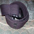 Dark Brown cargo twill belt Heavy duty cotton twill belt Unisex belt  34-36W #2