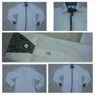 White long sleeve button up dress casual shirt Paisley Print dress shirt Small