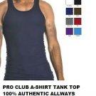 NAVY BLUE TANK TOP T-SHIRT by PRO CLUB LIGHT WEIGHT TANK TOP T-SHIRT S-5XL 6PACK