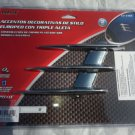 FENDER AIR VENTS TRIPLE FIN FLEXIBLE PEAL AND STICK SET UNIVERSAL FIT 2PC SET