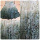 Womens Light Green  tie dye pin stripe Skirt Women's dress casual skirt size M