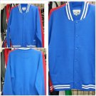 Royal Blue Cotton Long Sleeve Varsity Jacket PRO CLUB Varsity Jacket Coat S-7X