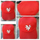Negro League Baseball Cap New York Cubans Red fitted Baseball Hat Dual Fit L/XL