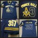 PRINCE HALL F&AM FOOTBALL JERSEY MASONCI FREEMASON BLUE GOLD JERSEY M-5X