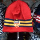 RED GOLD ESPANA SKULL CAP ESPANA EMBROIDERY EMBROIDED SKULL CAP BEANIE #2