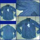 Parish Nation Long sleeve blue denim jean shirt Button up shirt Denim shirt M