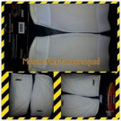 Unisex White Football Arm  Forearm Pads Bike White Muscle Flex Forearm Pad Large