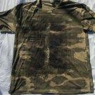 Green Camouflage short sleeve T shirt Mens Olive Green Camouflage T shirt XL