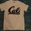 Cali white short sleeve T shirt California Westside logo T- shirt Cali Tee Small