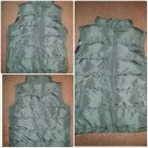 Mens Solid Black Sleeveless Vest Jacket Mens Black Casual Bubble Vest jacket M