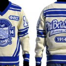 Phi Beta Sigma Long Sleeve V neck Sweater GOMAB V neck Fraternity Sweater M-4X