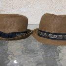 RAMPAGE Mens Women Unisex Straw Fedora Hat Straw Fedora Hat One size fits All