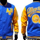 HBCU Fleece Varsity Jacket Albany State Hornets Fleece Baseball Jacket S-4X