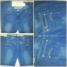 Mens Blue denim jean pants Mens straight leg blue denim jean pants 34WX32L