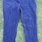Women's blue relax fit cotton pants Navy Blue casual dress office pants SZ12