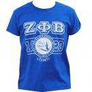 ZETA PHI BETA Blue short sleeve T shirt Zeta Phi Beta Sorority T shirt S-4X NWT