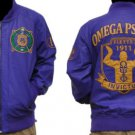 Omega Psi Phi Leather Fraternity Jacket Purple Omega Psi Phi Jacket Coat M-4X
