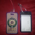 OMEGA PSI PHI LUGGAGE NAME TAG Name ID Suitcase Computer clothes name tag