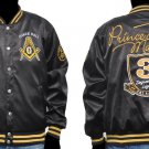 Masonic Satin Jacket Freemason Mason Black Prince Hall Masonic Jacket M-5X