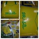 11pc BRASIL Futbol Soccer Team Car Seat Steering Wheel Cover Set 11pc