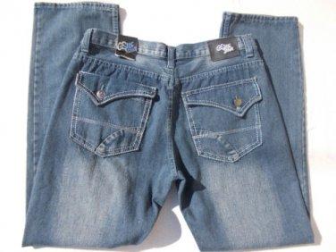 MEN'S GS115 BLUE DENIM JEAN PANTS BLUE DENIM JEANS PANTS 36Wx33.5L NEW