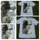 Welcome to Chicago White short sleeve graphic T shirt EXMX Chicago T shirt XL