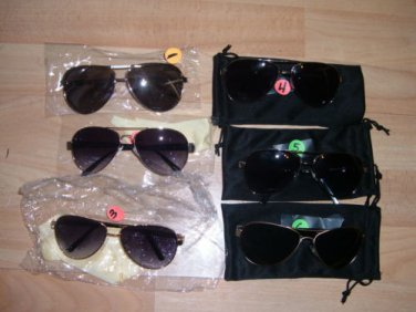Mens Womens Unisex sunglass military style sun glasses shades by Louis Valentin