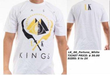 LAST KINGS WHITE SHORT SLEEVE T SHIRT LAST KINGS FORTUNE T SHIRT S-2XL NWT