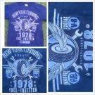 Vintage Style New York Customs Garage blue short sleeve  T Shirt Vintage Tee S-3