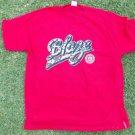 """DNINE RESERVE Red short sleeve logo T shirt  D9RESERVE """"BLAZE"""" T- Shirt  XL-2X"""